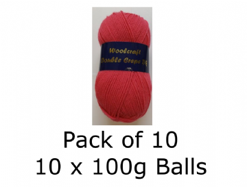 10 x 100g Woolcraft Double Crepe - Lipstick 07